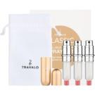 Travalo Classic HD Gift Set IV. Gold Refillable Atomizer 3 x 5 ml
