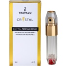 Travalo Crystal Gold vaporizador de perfume recargable unisex 5 ml
