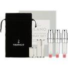 Travalo Milano Gift Set II. White Refillable Atomizer 3 x 5 ml + suede pouch