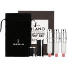 Travalo Milano Gift Set III Black Refillable Atomizer 3 x 5 ml + suede pouch