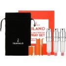 Travalo Milano Gift Set IV. Orange Refillable Atomizer 3 x 5 ml + suede pouch