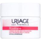 Uriage Roséliane подхранващ дневен крем за чувствителна кожа със склонност към почервеняване (Anti - Redness Rich Cream) 50 мл.