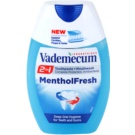 Vademecum 2 in1 Menthol Fresh pasta do zębów + płyn do płukania jamy ustnej w jednym (Deep Oral HygieneFor Teeth And Gums) 75 ml