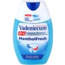 Vademecum 2 in1 Menthol Fresh zubní pasta + ústní voda v jednom (Deep Oral HygieneFor Teeth And Gums) 75 ml