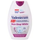 Vademecum 2 in1 Non-Stop White pasta de dientes + enjuague bucal en un solo producto (Long-Lasting Stain Protection, Up to 12h Whiter Teeth) 75 ml