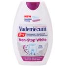 Vademecum 2 in1 Non-Stop White pasta de dientes + enjuague bucal en un solo producto   75 ml