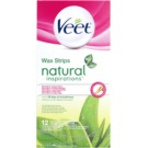 Veet Natural Inspirations Depilatory Wax Strips For Normal And Dry Skin  12 pc