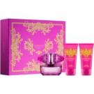 Versace Bright Crystal Absolu ajándékszett X.  Eau de Parfum 50 ml + testápoló tej 50 ml + tusfürdő gél 50 ml