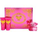 Versace Bright Crystal Absolu coffret VII. Eau de Parfum 50 ml + creme de duche 50 ml + leite corporal 50 ml