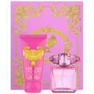 Versace Bright Crystal Absolu darilni set IX. parfumska voda 30 ml + losjon za telo 50 ml