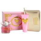 Versace Bright Crystal Gift Set XIX. Eau De Toilette 90 ml + Body Milk 100 ml + Cosmetic Bag
