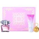 Versace Bright Crystal подаръчен комплект XXII. тоалетна вода 90 ml + мляко за тяло 100 ml + ключодържател