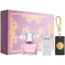 Versace Bright Crystal Gift Set XXV. Eau De Toilette 90 ml + Body Milk 100 ml + Charm