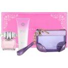 Versace Bright Crystal подаръчен комплект  тоалетна вода 90 ml + мляко за тяло 100 ml + козметична чанта 24 x 5 x 15 cm