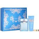 Versace Eau Fraîche Man set cadou XXV.  Apa de Toaleta 100 ml + Gel de dus 100 ml + clipsuri pentru notițe