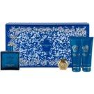 Versace Eros Geschenkset XI. Eau de Toilette 100 ml + Duschgel 100 ml + After Shave Balsam 100 ml + Schlüsselbund