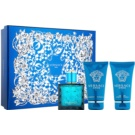 Versace Eros set cadou XIII. Apa de Toaleta 50 ml + Gel de dus 50 ml + After Shave Balsam 50 ml