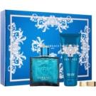 Versace Eros darčeková sada XIV.  toaletná voda 100 ml + sprchový gel 100 ml + spona na peniaze