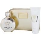Versace Eros Pour Femme darilni set V. parfumska voda 100 ml + losjon za telo 100 ml + torbica