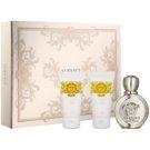 Versace Eros Pour Femme dárková sada VII.  parfemovaná voda 50 ml + sprchový gel 50 ml + tělové mléko 50 ml