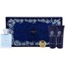Versace pour Homme lote de regalo XV. eau de toilette 100 ml + gel de ducha 100 ml + bálsamo after shave 100 ml + llavero