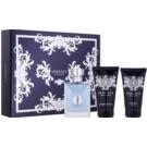 Versace pour Homme ajándékszett XVII. Eau de Toilette 50 ml + testsampon 50 ml + borotválkozás utáni balzsam 50 ml