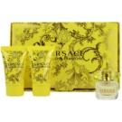 Versace Yellow Diamond dárková sada V. toaletní voda 5 ml + tělové mléko 25 ml + sprchový gel 25 ml
