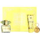 Versace Yellow Diamond dárková sada VIII. toaletní voda 90 ml + tělové mléko 100 ml + klíčenka 1 ks
