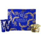 Versace Yellow Diamond Intense coffret II. Eau de Parfum 50 ml + gel de duche 50 ml + leite corporal 50 ml