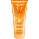 Vichy Idéal Soleil Gel leitoso para peles secas de fácil aplicação SPF 50  200 ml