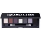 W7 Cosmetics Angel Eyes Jet Set szemhéjfesték paletták tükörrel és aplikátorral árnyalat Jet Set 7 g