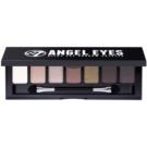 W7 Cosmetics Angel Eyes Out on the Town paleta očních stínů se zrcátkem a aplikátorem odstín Out on the Town 7 g