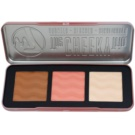 W7 Cosmetics The Cheeky Trio paleta pentru contur facial (Bronzer, Blusher, Highlighter) 21 g