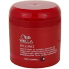 Wella Professionals Brilliance máscara para cabelo fino e colorido (Mask for fine and normal hair) 150 ml