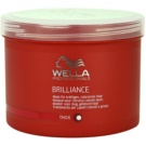 Wella Professionals Brilliance maszk a vastagszálú, festett hajra (Mask for coarse hair) 500 ml