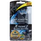 Wilkinson Sword Xtreme 3 Black Edition jednorázová holítka (Aloe Vera) 4 Ks
