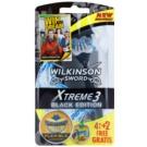 Wilkinson Sword Xtreme 3 Black Edition jednorázová holítka (Aloe Vera) 4 + 2 Ks