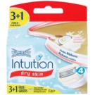 Wilkinson Sword Intuition Dry Skin rezerva Lama (With 100% Natrula Coconut Milk & Almond Oil) 4 buc