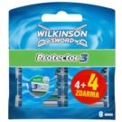Wilkinson Sword Protector 3 zapasowe ostrza (Aloe + Comfort + Protection) 4 + 4 Ks