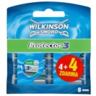 Wilkinson Sword Protector 3 Replacement Blades (Aloe + Comfort + Protection) 4 + 4 Ks