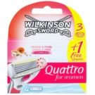 Wilkinson Sword Quattro for Women Papaya & Pearl recambios de cuchillas  4 ud