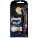 Wilkinson Sword Quattro Titanium Precision aparador e máquina de barbear molhado
