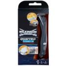 Wilkinson Sword Quattro Titanium Precision cortapelos y máquina de afeitar en húmedo