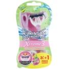 Wilkinson Sword Xtreme 3 Beauty Sensitive jednorázové holiace strojčeky (Aloe Vera) 4 Ks
