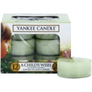 Yankee Candle A Child's Wish čajová svíčka 12 x 9,8 g