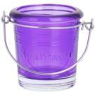 Yankee Candle Glass Bucket Üveg gyertyatartó fogadalmi gyertya alá    (Violet)