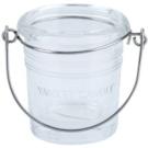 Yankee Candle Glass Bucket Üveg gyertyatartó fogadalmi gyertya alá    (Pure)