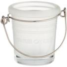 Yankee Candle Glass Bucket Üveg gyertyatartó fogadalmi gyertya alá    (White Matt)