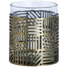 Yankee Candle Crosshatch Brass Glass Holder for Votive Candle