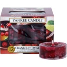 Yankee Candle Cranberry Twist čajová sviečka 12 x 9,8 g
